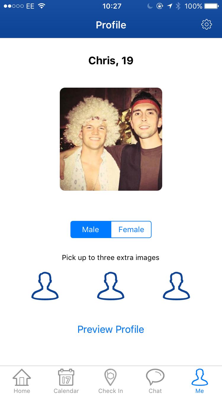 Bloc profile screen